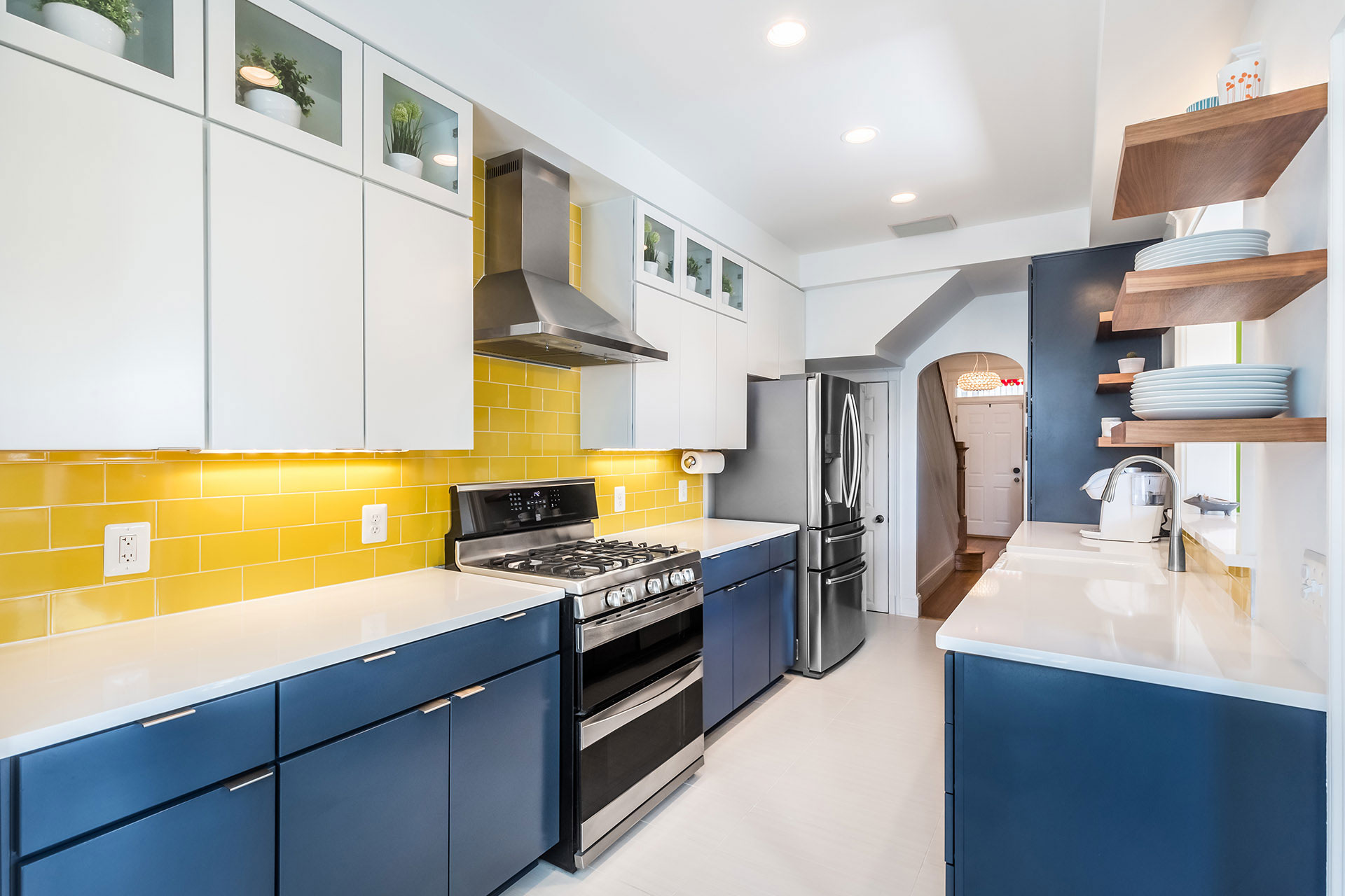 Kitchen blue and yellow - Home